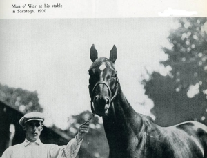 George Conway, pictured with Man O' War at Saratoga.