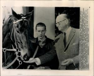 British jockey, Lester Piggott, an icon in his own country fulfilled a life's ambition when he got to meet the mighty Kelso.