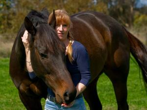 Australia's Bronwen Healy and the pony she adores, Nelly aka Black Caviar.