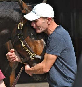 Calvin Borel with Rachel Alexandra at Stonestreet in the summer of 2012. The photo says it all.....