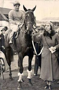 The amazing Golden Miller, shown here, not only won the Cheltenham Golden Cup for 5 consecutive years, but is the only horse to have won the British and Irish Grand Nationals, as well as the Gold Cup, in the same year -- 1934.