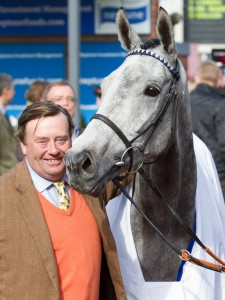 Simonsig and trainer, Nicky Henderson.