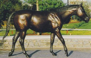 Sculptor Gwen Reardon's figure of the stallion, Lexington, adorns Kentucky's Horse Park.