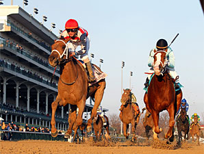 Seaneen Girl winning the Golden Rod at Churchill Downs in November 2012.