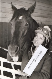 Tuesdee Testa with Dark Mirage. The filly loved Tuesdee, who groomed her and exercised her. She would become the thoroughbred the young woman would never forget. They both had obstacles to scale: the filly because of her size and temperament, the woman a male-dominated sport.