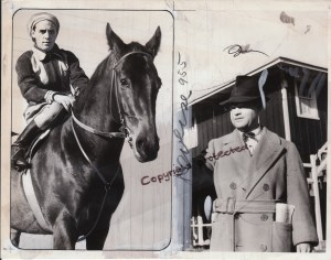 Duval A. Headley, shown here with the champion, Menow, whom he trained for his uncle, Hal Prince Headley.
