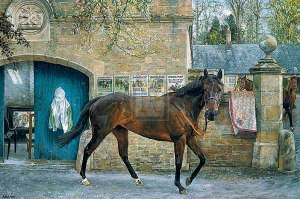 ATTRACTION is pictured here in a painting by       . As a broodmare, she has been a success: Fountain of Youth being her third winning foal.