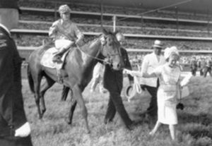 Mrs. E.P. Taylor leads in FLAMING PAGE. The daughter of BULL PAGE won the Queen's Plate in