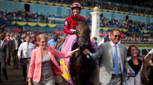 INGLORIOUS becomes the first filly of the 21st century to capture the Queen's Plate in 2011.