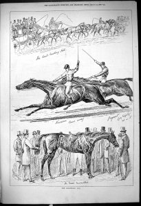 The Goodwood Cup race, as depicted in the 1878