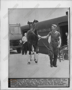 BOLD RULER arrives at Churchill Downs to run in the 1937 Kentucky Derby.