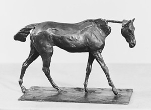 DEGAS' sculpture of a thoroughbred walking seemed a fitting opening to this article.