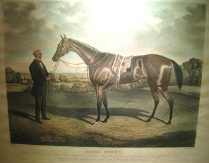 BLINK BONNY: the peerless daughter of MELBOURNE, won both the Epsom Derby and Oaks in 1857.