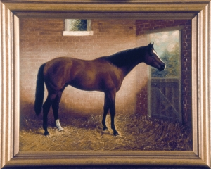 CARBINE, captured in oil by artist Percy Brinkworth.