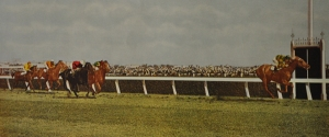 PETER PAN wins his second Melbourne Cup in 1934, carrying a bone crushing 138 lbs.