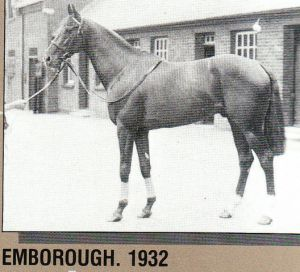EMBOROUGH, the sire of BERNBOROUGH descended from the powerful GALOPIN sire line.