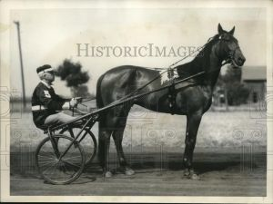 A gorgeous photo from 1933 of BEN WHITE and the trotter SPENCER McELWYN.