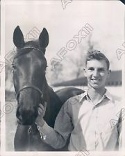ROSALIND with owner, GIBSON WHITE. There seemed to be no question that Gib's love for his filly was central to his recovery from tuberculosis.