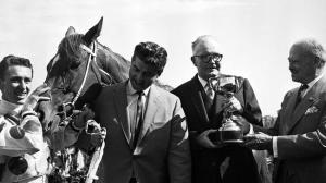 LIGHT FINGERS was Bart Cummings very first Melbourne Cup winner. Cummings stands next to the jockey in the days when his thick mane of hair was still dark.