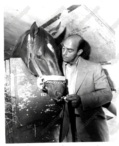 The great ALYDAR with trainer, John Veitch.