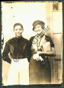Jockey EARL PORTER with an unidentified woman.