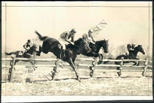 The 1940 Maryland Hunt Cup. BLOCKADE is shown in the foreground.