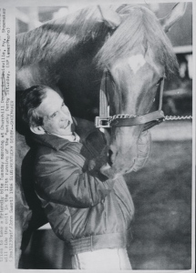 FERDINAND with WILLIE SHOEMAKER, pre-Derby. Several informal photos of the pair make it clear they loved each other.