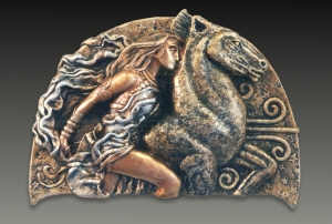 EPONA/RHIANNON  as represented in an image of Celtic origin.