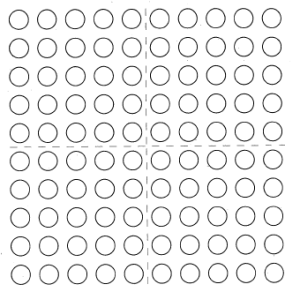 100 dots.