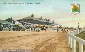 An old postcard depicting the former Kenilworth Race Track. Note the Canadian Emblem -- it would be another 44 years before Canada had its present flag.