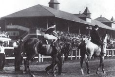 MAN O' WAR coming on to the Kenilworth track.