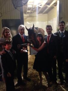 With the Baffert family.