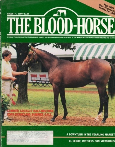 A.P. INDY tops Keeneland summer sale, August 4, 1990. Billed as a brother to the great SUMMER SQUALL, A.P. was purchased by