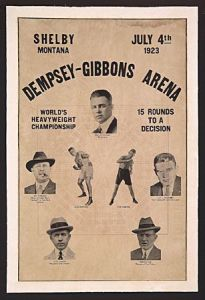 Robert Dorman also got the call to cover the Dempsey-Gibbons fight in Shelby,