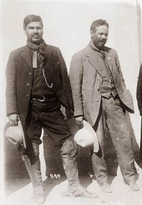 Fierri (The Butcher) in black with Pancho Villa. Possibly taken by Dorman, but source unknown.