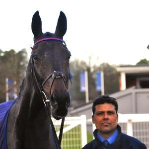 SPRINTER SACRE with his groom and best friend, Sarwah Mohammed.