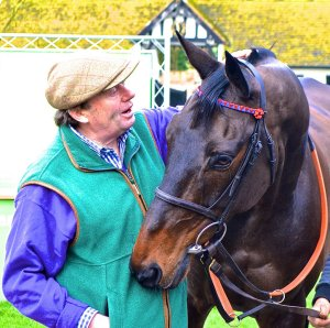""" I can dream, can't I?"" Nicky Henderson and THE SPRINTER early in 2016."