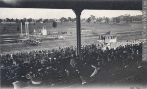 BLUE BONNETS race track in 1907. Photo and copyright, The McCord Museum, Montreal, CA. Used with the permission of the McCord Museum.