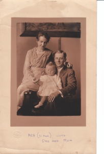 Grandpa, Gramma and my mother, circa 1920.