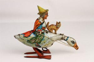 MOTHER GOOSE wind-up toy by Marx from the 1920's.