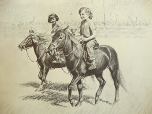 Illustration from A Pony For Linda, written for CWA's granddaughter