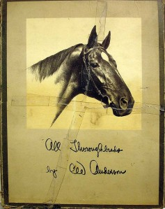 The cover of one of CWA's portfolios, All Thoroughbreds.