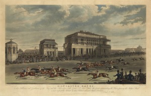 Doncaster racecourse as it looked in the 18th century.