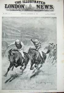The dramatic clash between LADAS and the filly makes the cover of The London Illustrated News.