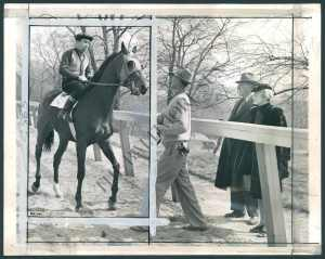 John and Fannie Hertz with their champion. Photo circa 1943.
