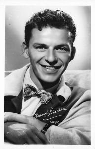 A young FRANK SINATRA by W.J. Gray with the latter's signature visible under Sinatra's. Photo and copyright, the estate of W.J. Gray.
