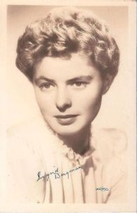 INGRID BERGMAN by W.J. Gray. Note his signature on the photo on the left-hand side. Photo and copyright, the estate of W.J. Gray.