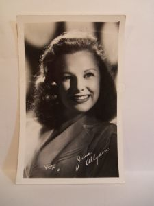 JUNE ALLYSON by W.J. Gray. Photo and copyright, the estate of W.J. Gray.