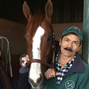 Raul and his boy, CALIFORNIA CHROME